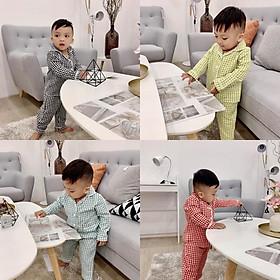 Combo 2Bộ Pijama cao cấp cho bé - Họa Tiết Caro Sang Chảnh - Giao Màu Ngẩu Nhiên