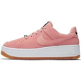 Nike Women's Air Force 1 Sage XX Low Casual Shoes (12, Black/Black/White)