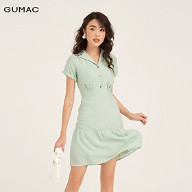 Đầm cổ vest rã tùng GUMAC DB182