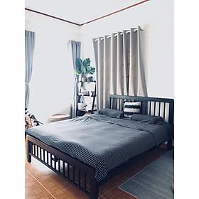 giường sắt hộp xuất khẩu màu đen ống 4x8