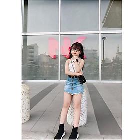 Váy quần jean ngắn co giãn nhẹ cho bé gái sành điệu - Quần áo trẻ em - SockiMall (200558)