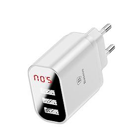 Củ sạc 3 cổng USB - đèn LED iQ báo sạc- sạc nhanh 3.4A Baseus Mirror Lake cho iPhone/iPad/Samsung/Android - Hàng Chính Hãng