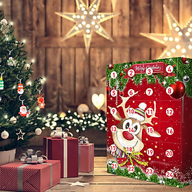Christmas Elk Advent Calendar 2020 With 24 Little Doors Mystery Gift for Kids Children Fun Surprise