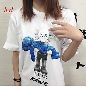 áo phông hè,thun tay lỡ in 5D người máy So chất cotton mềm mát form thụng unisex nam nữ mặc cặp đôi, nhóm ulzzang giá rẻ