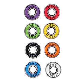 8pcs Frictionless Abec 9 Skateboard Roller Skate Bearings