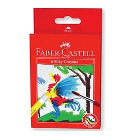 Bút Sáp Vặn Silky-Watersoluble 6 Màu 121306 Faber Castell