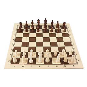 Wooden Chess Five-in-a-row Go Two In One Parent-child Interaction Early Education Game Foldable Chess Children