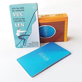 Bộ 52 Bookmark Ý Nghĩa - Fususu Card Blue từ #53 tới #104 - Tuyển Tập Các Câu Nói Hay Tạo Động Lực Mạnh - Danh Ngôn Hay Truyền Cảm Hứng Sống - Đựng Trong Hòm Kho Báu Sáng Tạo Dễ Thương