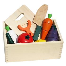 Đồ chơi cắt hoa quả bằng gỗ cho bé
