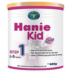 Sữa bột Hanie Kid 1 dành cho trẻ biếng ăn & suy dinh dưỡng 0-6 tháng tuổi (400g)