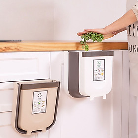 Thùng đựng rác gấp gọn thông minh dùng cho nhà bếp, xe hơi, phòng khách đa năng, tiện lợi