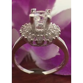 Hình đại diện sản phẩm Nhẫn nữ bạc 925, nhẫn nữ ổ cao đá trắng 100% bạc cao cấp -NU217 - Trang Sức Bạc QTJ(bajc)