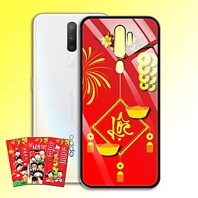 Ốp Lưng Kính Cường Lực cho điện thoại Oppo A5 2020 - 0382 7969 LOC02 - Tặng kèm bao lì xì Chúc Mừng Năm Mới - Hàng Chính Hãng