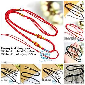 Dây dù phụ kiện trang sức - Vòng cổ dây dù - Dây vải bện - Vòng cổ dây dù