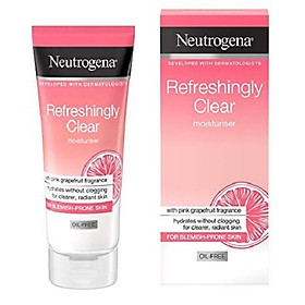 Kem dưỡng kiềm dầu Neutrogena Refreshingly Clear Moisturiser Oil Free - 50 ml (Bill Anh)