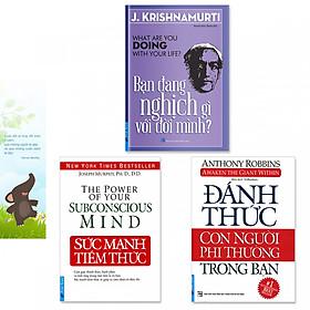 Combo 3 cuốn sách giúp phát triển sức mạnh bản thân: Sức Mạnh Tiềm Thức, Đánh Thức Con Người Phi Thường Trong Bạn, Bạn Đang Nghịch Gì Với Đời Mình?(Tặng kèm bookmark danh ngôn hình voi)