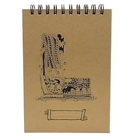 Sổ Sketchbook Alphabet - Hình Chữ L