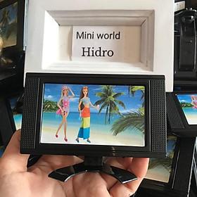 Mô hình tivi dùng cho búp bê. Ti vi TV mini trang trí nhà bê