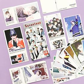 Postcard hộp idol SEVENTEEN IDEAL cut SET200 Carat Land mẫu mới nhất