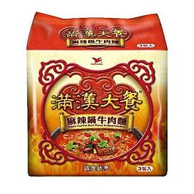 Mì cay ăn liền Đài Loan thịt bò vị mala Man Han Feast (3 gói)