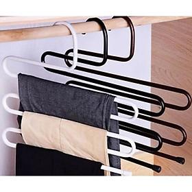 Combo 3 Móc treo quần áo 5 tầng  ( giao mầu ngẫu nhiên )