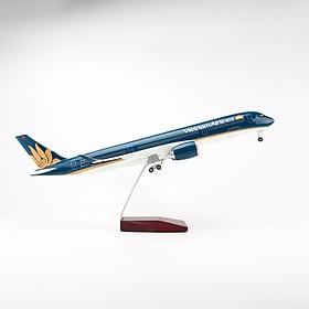 Mô hình máy bay Vietnam Airlines lắp ráp (47cm)-Xanh dương đậm,có đèn LED
