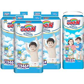 Combo 3 Gói Tã Dán Goo.n Premium Cực Đại XL46 (46 Miếng) - Tặng 1 Tã Quần Đại XL22 (22 Miếng)