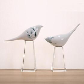 Decor- tượng đôi chim pha lê