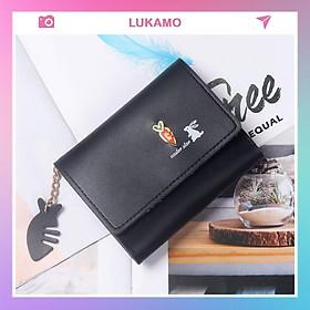 Ví nữ nhiều ngăn mini cầm tay đựng tiền nhỏ gọn bỏ túi LUKAMO VD435