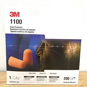 Nguyên hộp nút tai chống ồn 1100 3M gồm 200 cặp, loại không dây, nguyên tem của 3M, hàng chính hãng