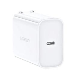 Sạc nhanh chuẩn usb Power Delivery màu trắng Ugreen 207CH60463CD type c 45W PD 3.0 hàng chính hãng