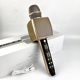 Mic Bluetooth GUTEK YS92 Hát Karaoke Cao Cấp Tích Hợp Loa Bass Trầm Ấm, Trang Bị Sound Card Dùng Livestream, Thiết Kế Tinh Tế, Chất Liệu Kim loại, Màu Sắc Sang Trọng, Âm Thanh Trong Và Lớn, Hỗ Trợ Kết Nối Usb, Thẻ Nhớ, Cổng 3.5, Hàng Chính Hãng