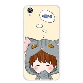 Ốp lưng dẻo cho điện thoại Vivo Y91C - 0044 COUPLEBOY05 - Hàng Chính Hãng