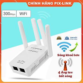 Kích sóng wifi tốc độ cao 4 râu 300M PIX LINK LV-WR09 thiết bị kích sóng phủ rộng giải pháp cho mạng yếu, kết nối đến 50M cực nhanh, cài đặt dễ dàng - Hàng chính hãng