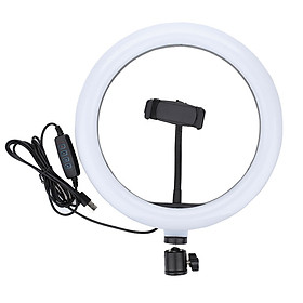 Đèn led livestream 33cm (Φ33) 3 chế độ đèn tích hợp giá đỡ điện thoại - Hàng nhập khẩu