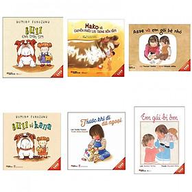 Combo (6 Cuốn) Sách Ehon Nhật Bản Dành Cho Trẻ Từ 3 - 6 Tuổi (Tặng Bookmark Thiết Kế Aha)