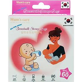 Túi Trữ Sữa Mum's Care Có Cảm Ứng Nhiệt 210ml (60 Túi/Hộp)