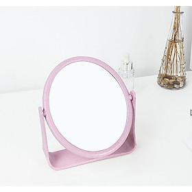 Gương tròn trang điểm để bàn- giao màu ngẫu nhiên