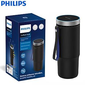 Máy khử mùi, lọc không khí dạng cốc trên xe ô tô cao cấp Philips GP5601 có 2 tốc độ Công suất 5.5W- Hàng nhập khẩu