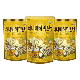 Combo 3 gói Hạnh nhân tẩm mật ong Hàn Quốc Tomsfarm HoneyButter Mix Nut 220g 3ea