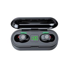 Tai Nghe Bluetooth Không Dây Lanith 5.0 TWS F9 - Tai Nghe Airpord Cao Cấp - Tai Nghe Bluetooth Nhét Tai Kiểu Dáng Độc Đáo, Nhỏ Gọn - Âm Thanh Mềm Mượt, Thoải Mái, Không Làm Nhức Tai - Hàng Nhập Khẩu - TAI000F9B