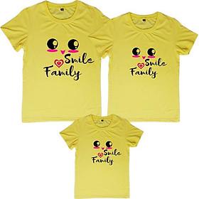 Áo Thun Gia Đình Smile Family Vàng