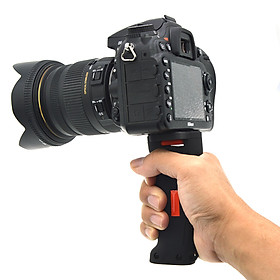 "Wide Platform Pistol Grip Camera Handle with 1/4"" Screw for SLR DSLR DC Canon Nikon Sony iPhone Xiaomi Smartphone"