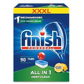 Viên rửa bát Finish All in one 90 viên hương chanh