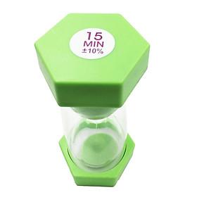 15 Minutes Sandglass Hourglass Sand Timer Kichen Exercise Clock Light Green