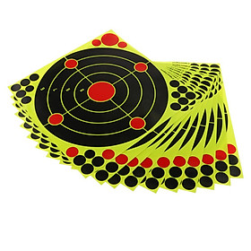 10pcs 12'' x 12''  Reactive Adhesive Shooting Targets Sticker