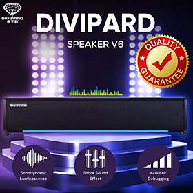 Loa máy tính Soundbar Mini Divipard V6 - Hàng nhập khẩu