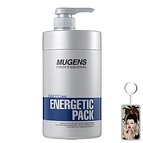 Hấp dầu thảo dược Mugen Energetic Hair Pack Hàn Quốc 1000ml + Móc khóa