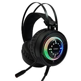 Bộ Tai Nghe Gaming Fuhlen H200 Âm Thanh 7.1 LED RGB + Tai nghe Sendem V5 Superbass - Hàng Chính Hãng