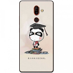 Hình đại diện sản phẩm Ốp lưng dành cho Nokia 7 Plus mẫu Panda mọt sách